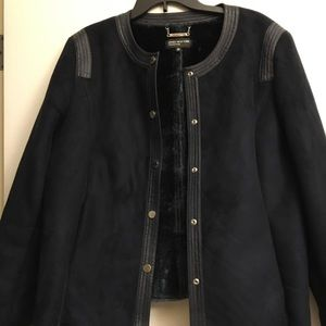 Jones New York Faux Suede/Faux Fur Jacket
